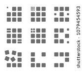 abstract logo rectangle set | Shutterstock .eps vector #1079454593