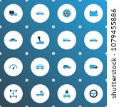 automobile icons colored set... | Shutterstock .eps vector #1079455886