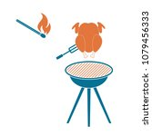 grilled chicken icon. vector... | Shutterstock .eps vector #1079456333