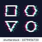 vector frames set in trendy... | Shutterstock .eps vector #1079456720