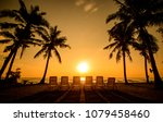 sunset time at samui island in... | Shutterstock . vector #1079458460