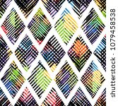 seamless pattern with strokes....   Shutterstock . vector #1079458538