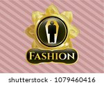 gold shiny badge with dead ... | Shutterstock .eps vector #1079460416