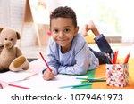 little african american boy... | Shutterstock . vector #1079461973