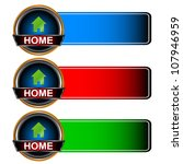 three home icons   Shutterstock .eps vector #107946959