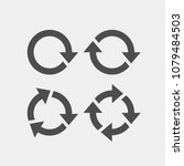 recycling flat vector icons set.... | Shutterstock .eps vector #1079484503