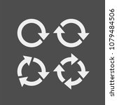 recycling flat vector icons set.... | Shutterstock .eps vector #1079484506