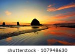 Beautiful Sunset In Cannon Beach