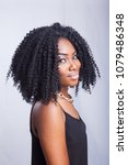 portrait of ebony woman with... | Shutterstock . vector #1079486348