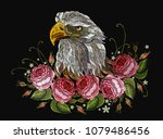 embroidery head white eagle and ... | Shutterstock .eps vector #1079486456