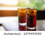 double cool ice soft drink cola ... | Shutterstock . vector #1079492930