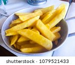 potato free on plate in a...