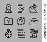 icons customer service with... | Shutterstock .eps vector #1079521643