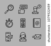 icons customer service with... | Shutterstock .eps vector #1079522459