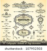 set calligraphy and pages... | Shutterstock .eps vector #107952503
