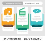 chat business infographic... | Shutterstock .eps vector #1079530250