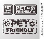 pet friendly stamp set. vector... | Shutterstock .eps vector #1079532059