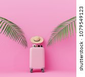 Pink Suitcase With Traveler...