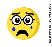 crying emoji icon isolated on... | Shutterstock .eps vector #1079551508