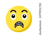 shocked emoji icon isolated on... | Shutterstock .eps vector #1079551730