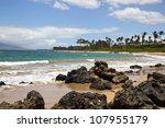 Surf Crashing Against Rocks On...