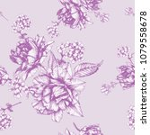 vector floral seamless pattern... | Shutterstock .eps vector #1079558678