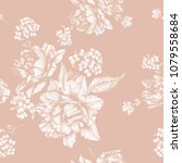 vector floral seamless pattern... | Shutterstock .eps vector #1079558684