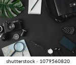 top view travel concept with... | Shutterstock . vector #1079560820