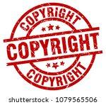 copyright round red grunge stamp | Shutterstock .eps vector #1079565506