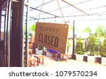 coffee shop is closed in... | Shutterstock . vector #1079570234