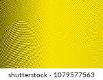 bright yellow black halftone...   Shutterstock .eps vector #1079577563