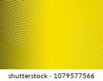bright yellow black halftone...   Shutterstock .eps vector #1079577566