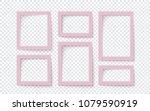 Six Pink Rectangular Blank...