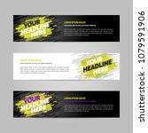 web banner design sports... | Shutterstock .eps vector #1079591906