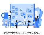 business people meeting and... | Shutterstock .eps vector #1079595260
