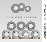 rolled steel straps  steel coil ... | Shutterstock .eps vector #1079596364