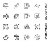 modern thin line icons set of... | Shutterstock .eps vector #1079596550