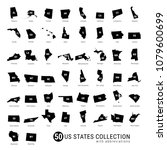 50 us states vector collection. ... | Shutterstock .eps vector #1079600699