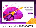 vector concept illustration  ... | Shutterstock .eps vector #1079604374