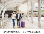 portrait charming traveler... | Shutterstock . vector #1079612336