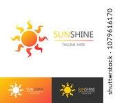 vector sun shine logo set...   Shutterstock .eps vector #1079616170