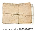stack of dirty dusty old... | Shutterstock . vector #1079624276