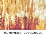 grunge metal painted texture.... | Shutterstock . vector #1079628320