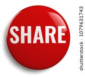 share round red icon isolated... | Shutterstock . vector #1079631743