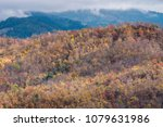 top of the mountain in fall ... | Shutterstock . vector #1079631986