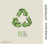 reuse  reduce  recycle poster... | Shutterstock .eps vector #107963309
