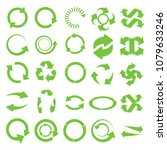 green round recycle vector... | Shutterstock .eps vector #1079633246