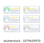 feedback  rating bubbles ... | Shutterstock .eps vector #1079635970