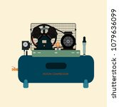 reciprocating piston air... | Shutterstock .eps vector #1079636099