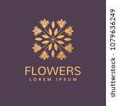 floral logo. flower icon.... | Shutterstock .eps vector #1079636249